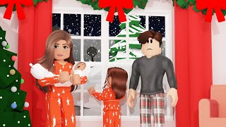 SNOWED IN FOR 24 HOURS! Bloxburg Family Roleplay