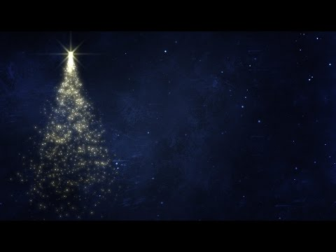 Glittery Spinning Christmas Tree - HD Video Background Loop