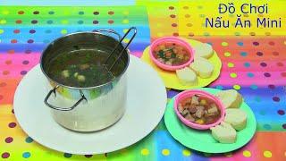Nấu Ăn Thật Bằng Đồ Chơi Nấu Ăn Mini - Nấu Món Heo Hầm Kiểu Mỹ  / Chị Bí Đỏ  Metal Cook Ware Set