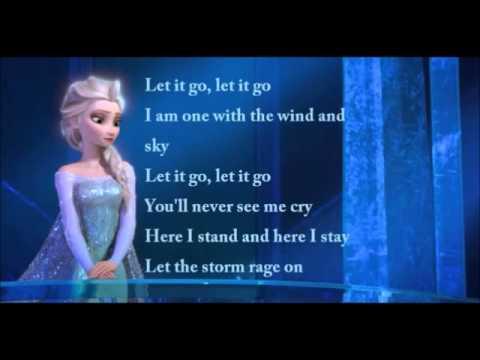 Idina Menzel - Let It Go Official Lyrics Video (Elsa ...  Idina Menzel - ...