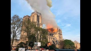 Live: Pictures of Paris's iconic Notre-Dame Cathedral on fire  | ITV News