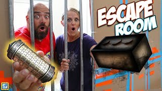24 Hour Giant Box Fort Mystery Prison Escape Room Surprise on Mom & Dad!