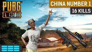PUBG Lite Gameplay With 16 Kills   China Number 1!