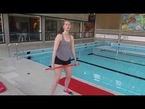 SchwimmKids Trockentraining mit Lynn und Niclas
