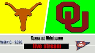 Texas vs Oklahoma Live | 2020 College Football Week 6 | 10/10/2020