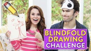 BLINDFOLD DRAWING CHALLENGE! ft Max Schneider