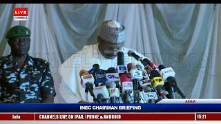 INEC Chairman Gives Update On Preparations Ahead Of Polls - Full Speech