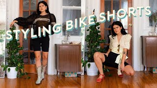 HOW TO: STYLE BIKE SHORTS / LOOKBOOK