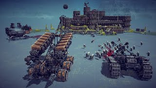 Medieval Death and Siege Machines Destroy Castles and Kill Peasants | Besiege