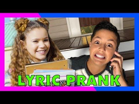 SONG LYRIC PRANK CONFESSION! (vs Sierra Haschak)