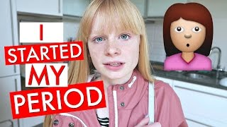 i STARTED MY PERiOD MUM! 😳