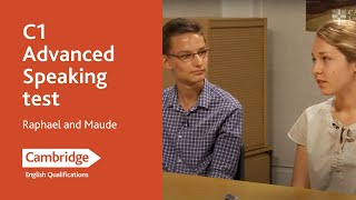C1 Advanced speaking test (from 2015) - Raphael and Maude | Cambridge English