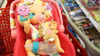 Shopping with Baby Alive Back to School Shopping at Target with Baby Go Bye Bye