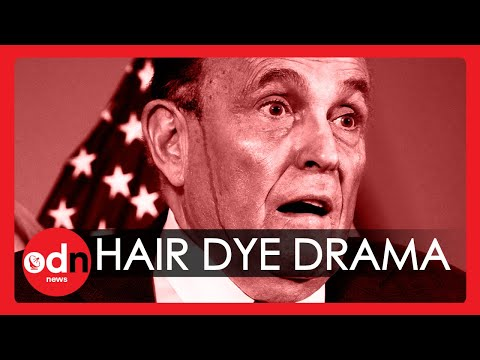 Hair Dye Streams Down Rudy Giuliani's Face During Sweaty Press Conference