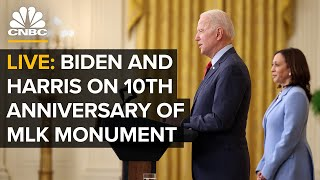 LIVE: President Biden and VP Harris deliver remarks at 10th anniversary of MLK monument — 10/21/2021