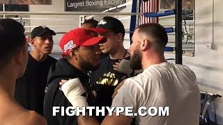 (LEAKED!) JOSE BENAVIDEZ GETS INTO SCUFFLE WITH CALEB PLANT; FISTS FLY AFTER CONFRONTATION AT GYM