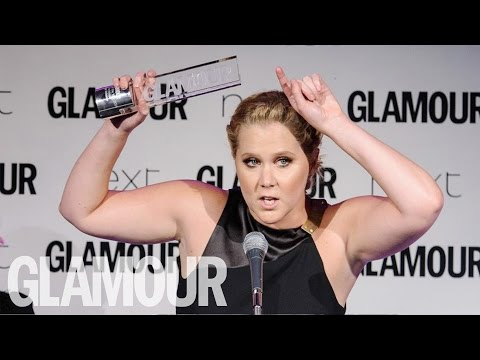 Amy Schumer Hilarious Acceptance Speech | Glamour UK