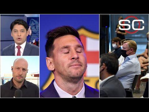 EL AMBIENTE en la rueda de prensa de Lionel Messi, así se sintió el momento del adiós | SportsCenter