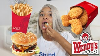 WENDY'S MUKBANG!!! (CHICKEN NUGGETS, FRIES & MORE!)