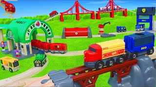 BRIO Trains: Fireman Toy Vehicles, Tunnel & Wooden Train Railway Toys Unboxing for Kids
