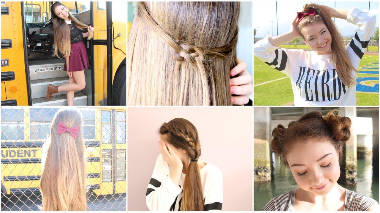 Heatless Hair Styles: 5 Quick N' Easy Back To School Heatless Hairstyles!