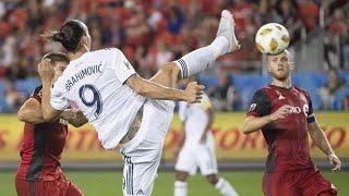 """Zlatan Ibrahimovic destroys goal keeper with an unreal spinning back heel flick"""