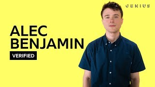 """Alec Benjamin """"Let Me Down Slowly"""" Official Lyrics & Meaning   Verified"""