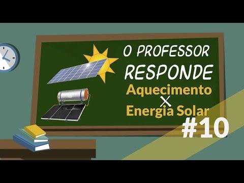 O Professor Responde #10: Aquecimento X Energia Solar
