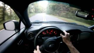 Mountain road driving in a BRZ