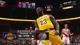 LeBron James Lakers Debut, 33 Years Old NOT SLOWING DOWN!
