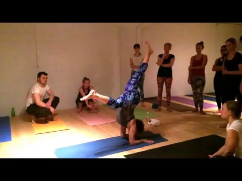Pincha Mayurasana with a twist
