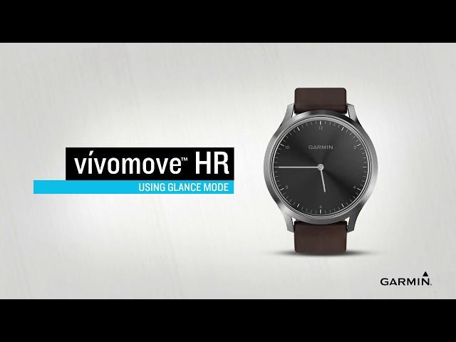dd2ea7620cc vívomove HR  Utilizar o modo de visualização rápida (português). Transforme  um relógio clássico num monitor de atividades inteligente ...