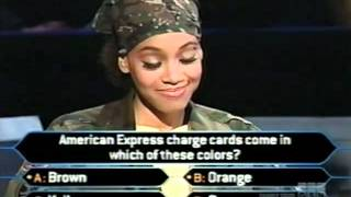 """Lisa """"Left Eye"""" Lopes on Who Wants to be a Millionaire Top of the Charts edition (music edition)"""