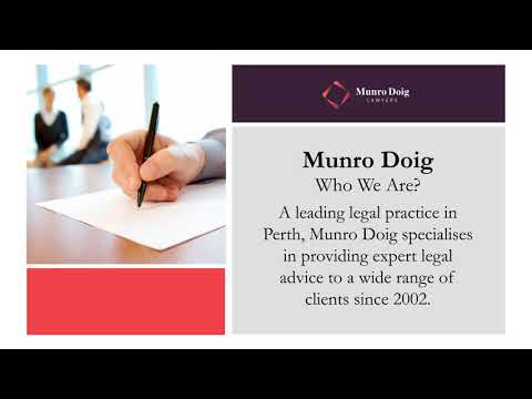 Legal Services Offered by Munro Doig Lawyers in Perth - Watch Now!