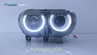 For Dodge Challenger 2008 2014 modificada led head light