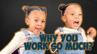 TWINS DON'T UNDERSTAND WHY PARENTS WORK SO MUCH