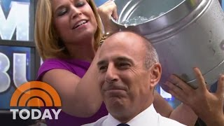Matt Lauer Takes Ice Bucket Challenge   TODAY