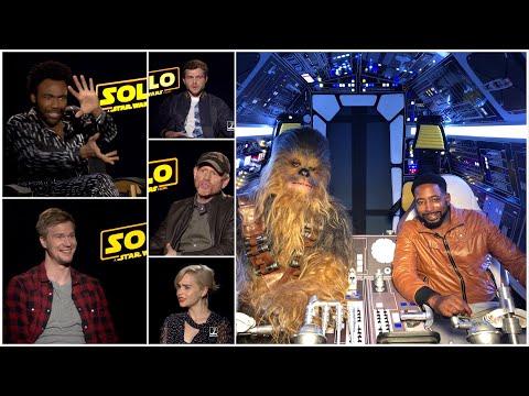 Solo A Star Wars Story Interviews w/ cast & director (Glover, Ehrenreich, Clarke, Howard, & Bettany)