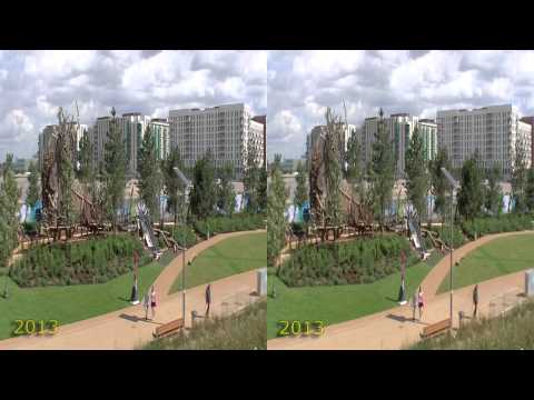 London Olympic Park during the games and now (aug 2012-2013 aug) 3D HSBS