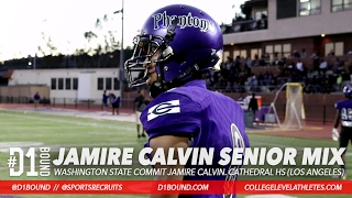 Jamire Calvin '17 WR Official Senior Highlights. Wazzu Commit. (5'10 160, Cathedral High School)