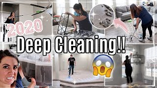 SATISFYING! 2020 DEEP CLEAN WITH ME :: ALL DAY EXTREME SPEED CLEANING MOTIVATION :: SPRING CLEANING