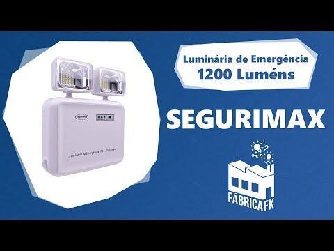 Luminária de Emergência LED 1200 Luméns Segurimax - Bivolt - Vídeo explicativo