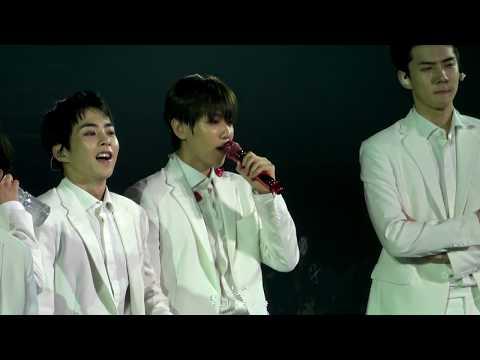 [4K] 180810 엑소 EXO ElyXiOn dot in Macau - White Suit Ment - Baekhyun 백현 Focus 직캠