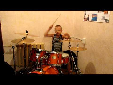 Барабанщик Даниил Варфоломеев - 8 лет. Gorky Park - Парк Горького