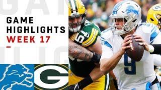 Lions vs. Packers Week 17 Highlights | NFL 2018
