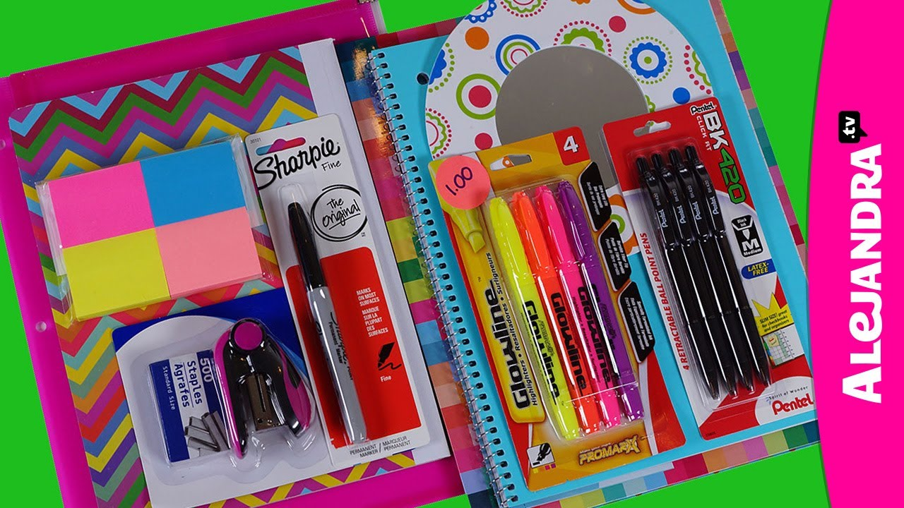 Back To School Supplies Haul 2013 14 Shopping At Dollar