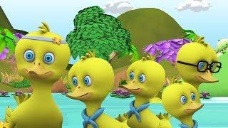 Cinq petits canards | Comptines | Dessin Animé Francais | Comptine Little Treehouse | 5 Little Ducks