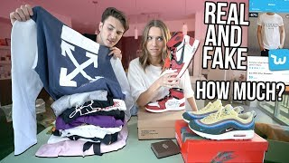 GIRLFRIEND GUESSES HOW MUCH CLOTHING/SNEAKERS COST! (REAL & FAKE)