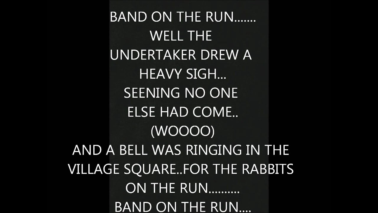 how to play band on the run
