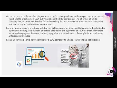 Helpful SEO India tips for a B2B companies